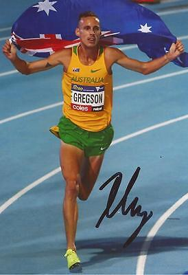 ATHLETICS: RYAN GREGSON SIGNED 6x4 ACTION PHOTO+COA *RIO 2016* *AUSTRALIA*