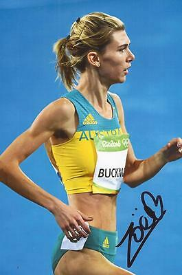 ATHLETICS: ZOE BUCKMAN SIGNED 6x4 RIO 2016 ACTION PHOTO+COA *AUSTRALIA*