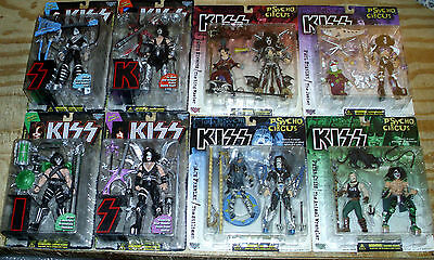 1997 & 1998 Kiss Action Figures Estate Lot Of (8) New Sealed Take A Look!