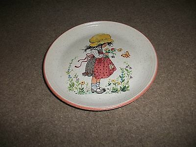Purbeck Pottery Decorative Plate Of Colourful Little Girl-Exc. Cond.-18 Cms Diam