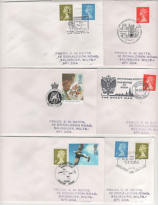 Military - 1995/97 Special Postmarks On 6 Covers