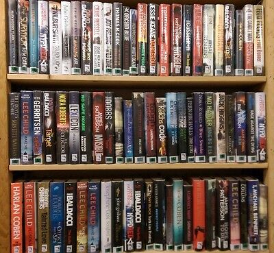 THRILLER / ADVENTURE BOOKS: Mixed Adult Fiction, LARGE Box of 15+ books. Job Lot
