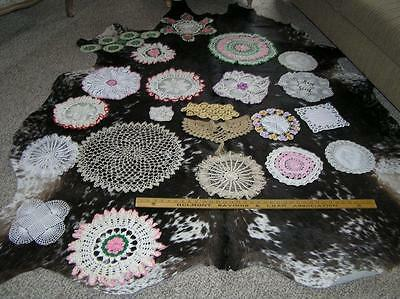Lot of 23 Antique LInens & Laces Doilies and Runners Crochet Dresser scarves