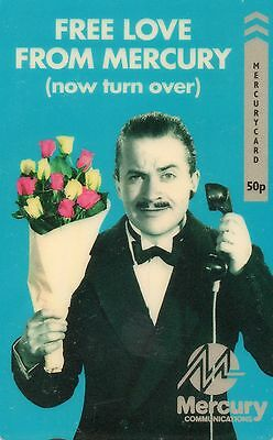UK MERCURY Free Love from Mercury (now turn over) Harry Enfield Phone Card RARE