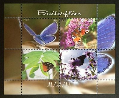 Bloc Sheet Papillons Butterfly Neuf MNH  ** Malawi 2012 Private local/issue