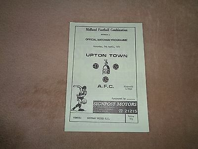 Upton Town (Worcestershire) v Southam United 88/89