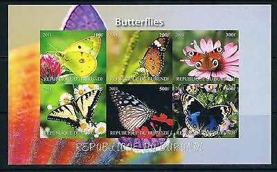 Bloc Sheet Papillons Butterfly Neuf MNH ** IMP Burundi 2011 Private local/issue