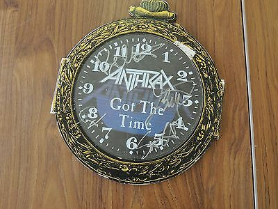 Signed ANTHRAX record (Got the time)  - ALL proceeds to Charity