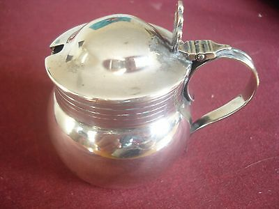 Solid Silver Mustard Pot By Searle & Co. London 2 1/2 Oz