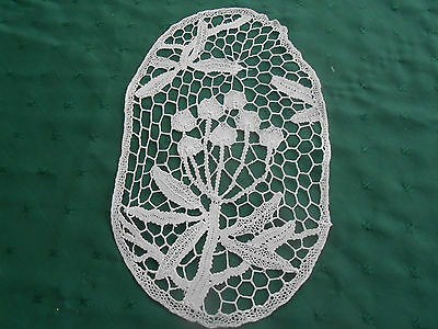 One Of A Kind Hand Made Needle Lace Doily, Circa 1920