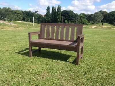 Last Few - Seat  Bench Outdoor  Garden Park   2 Seater 100% Recycled Plastic