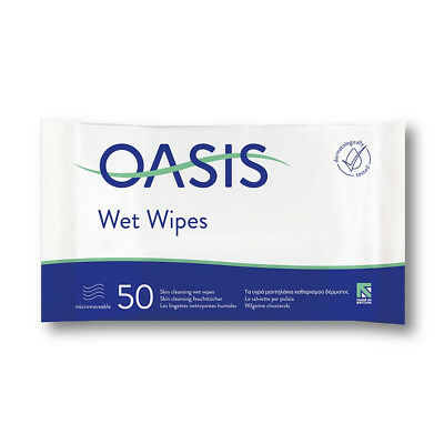 Oasis Moist Skin Cleansing Wipes - Pack of 50