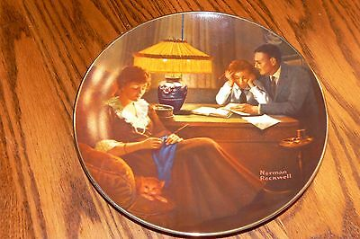Norman Rockwell Light Campaign Collection Series Plate, Father's Help in box
