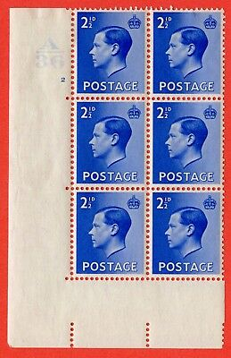 SG. 460. P4. 2½d Bright Blue. A fine mounted mint. Control  A36 cylinder 2 not.