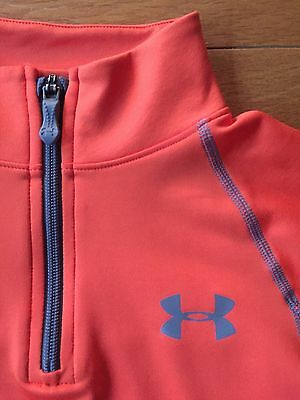 UNDER ARMOUR Youth BOYS 1/4 ZIP ATHLETIC SHIRT Size M Loose