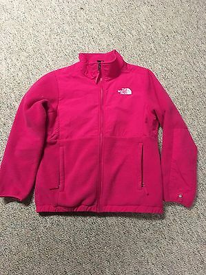 North Face girls pink fleece jacket size 14/16