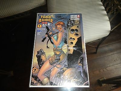 Tomb Raider signed comic Top Cow