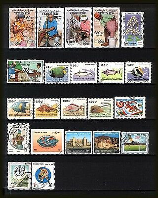 YEMEN 1980-96 : Good to fine used & mint selection incl. FISH stamps.