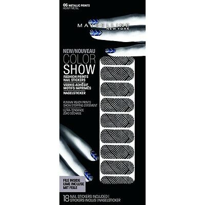 Faux Ongles Color Show Nail Sticker Gemey Maybelline - 06 Heavy Métal