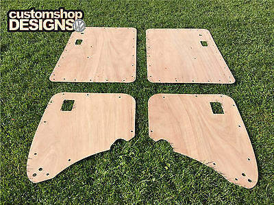 VW Type 1 Classic Beetle 1950 - 1979 3.6mm Door Cards Ply Lining Kit