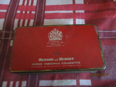 Collectable Benson And Hedges Super Virginia Cigarette Tin
