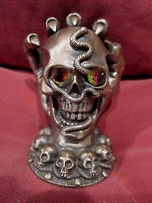 Pewter Figurine Tudor Mint The Keeper Of The Skulls Mythical Fantasy Gothic