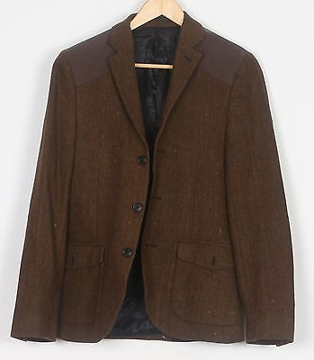 "Harris Tweed Chest 34"" XXS XS Jacket Blazer Brown (ADQ)"