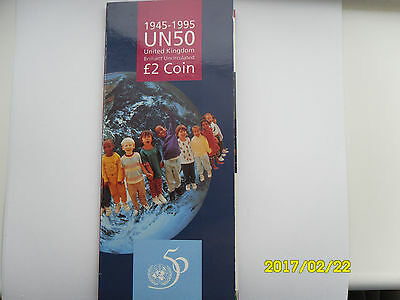 United Nations Bunc £2 Coin Gift Pack 1995