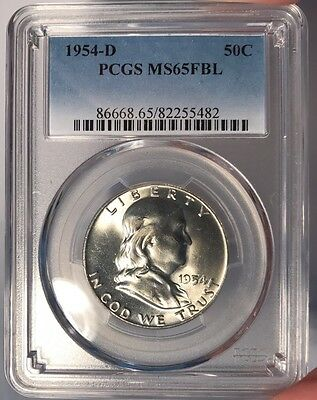 1954-D 50c PCGS MS 65 FBL Franklin Half Dollar