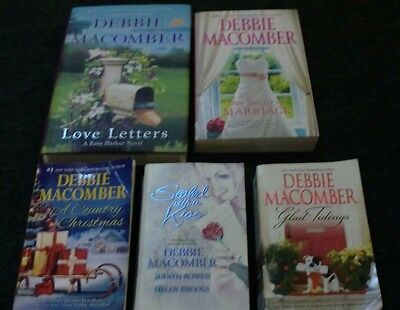 Mixed LOT OF 5 DEBBIE MACOMBER NOVELS- 2 with signatures