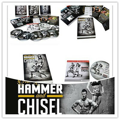 HAMMER AND CHISEL Workout 7DVDs , Sealed, Free Priority Shipping @HH