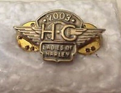 Ladies Of Harley Davidson HOG Pin Pinback Lapel Pinbacks Vest Motorcycle 2003