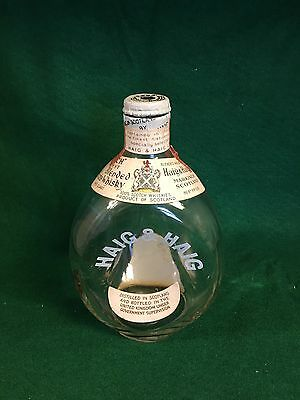 Haig Pinch Bottle Dimple Decanter With .20 cent Liquor Tax Stamp