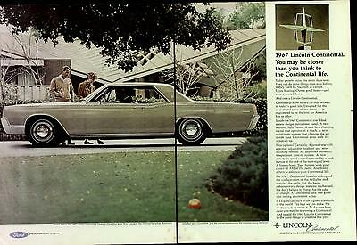 1967 Florentine Gold Lincoln Continental Coupe 2-Pg Ad