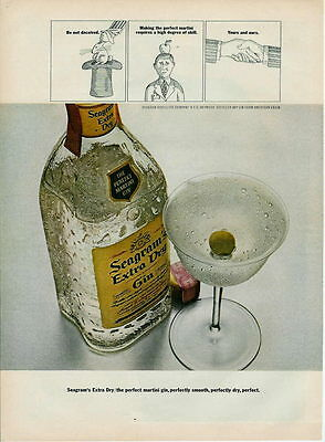 1966 Cartoon Ad For Seagram's Extra Dry Gin