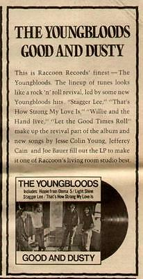 """1972 The Youngbloods """"good And Dusty"""" Album Promo Ad"""