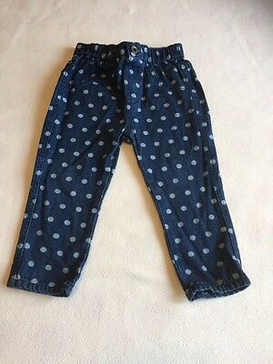 Baby Girls Clothes  12-18 Months- Cute  Jeans Trousers