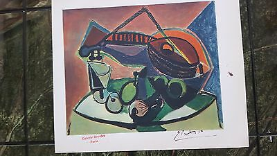 Pablo Picasso old Genuine 1946 lithograph art print hand signed+Paris stamp