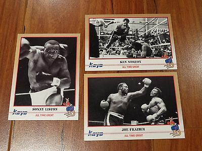 Muhammad Ali Opponents Boxing Cards