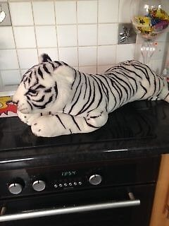 snow tiger cuddly toy