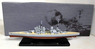 Atlas 1/1250 Scale Warship collection HMS Prince of Wales model Ship + Plinth