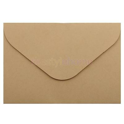 50 Kraft Paper Envelopes for Wedding Party Invites Greeting Cards 114x162mm