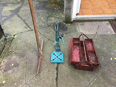 Black And Decker Vertical Pillar Drill Stand,pick Axe And Toolbox