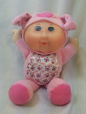 "Cabbage Patch Kid Cutie Barnyard Series Pig 9.5"" Pink White CPK"