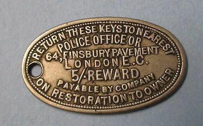 Return To Key FOB Tag London Police Reward