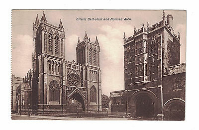 OLD POSTCARD BRISTOL CATHEDRAL AND NORMAN ARCH posted