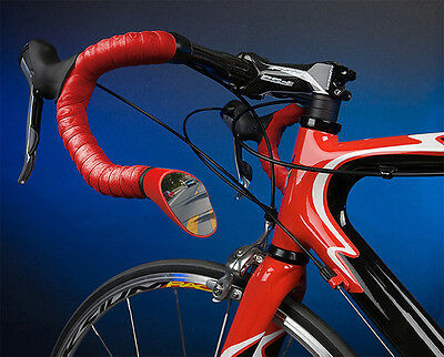 Left Side Red Sprintech Road Bicycle Drop Handlebar Ten Speed Mirror Left Only