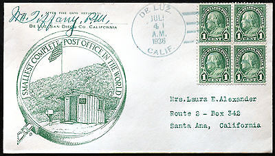 """Cover from """"The Smallest Complete Post-Office in the World"""", 1936."""