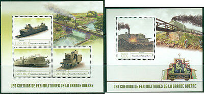 Military Trains Railroads World War I Great War Madagascar MNH stamp set