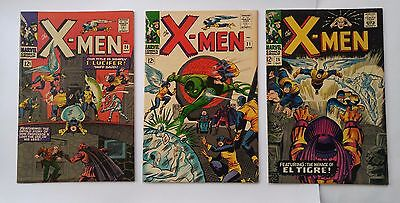 X-MEN 1960's SILVER AGE #20 #21 #25 FROM 1966. FIRST PRINTS - GREAT CONDITION